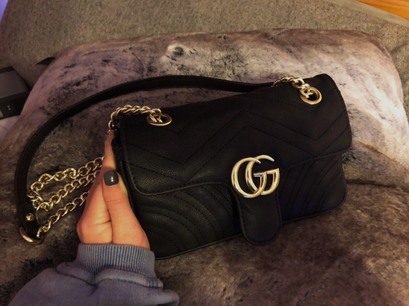 3590b1ebaa6f53 Gucci GG Marmont Matelassé Leather Super Mini Bag Black Crossbody ...
