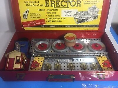1954 ERECTOR SET No. 4 1/2 COMPLETE GREAT - Erector Sets