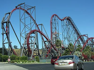 X2, Roller Coaster, Six Flags Magic Mountain 8x10 High Quality Photo Picture