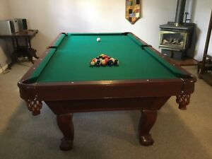 Beautiful Canadian made pool table
