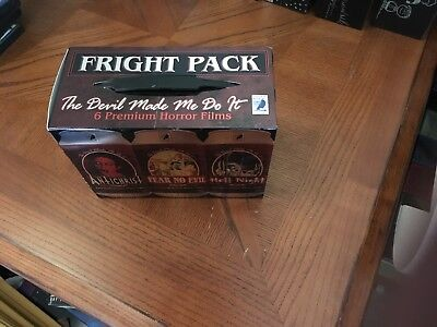 "FRIGHT PACK ""THE DEVIL MADE ME DO IT"" 6 PREMIUM HORROR DVD FILMS COLLECTION"