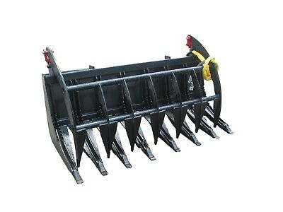 Bobcat E-series 66 Root Rake Grapple Skidsteer Attachment Free Shipping