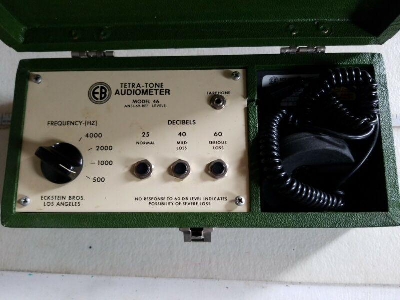 Eckstein Bros Tetra-Tone Audiometer Model 46 ANSI-69-REF Levels