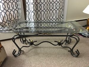 Glass  table and 2 end tables