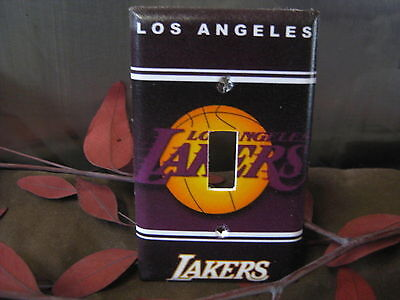 LA Lakers Light Switch Wall Plate Cover #1 - Outlet Double GFI - 1 Double Switchplate Cover