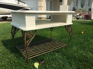 Distressed finish antique looking TV stand