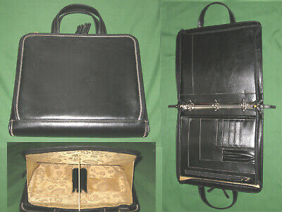 Monarch 1.5 Black Faux Leather Franklin Covey Planner Binder Organizer 6086