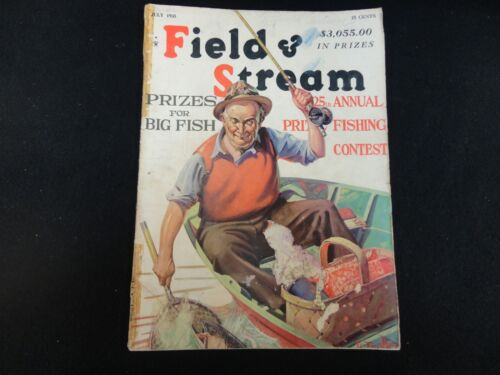 Field and Stream Magazine July 1935 Vintage Issue- Free Shipping!