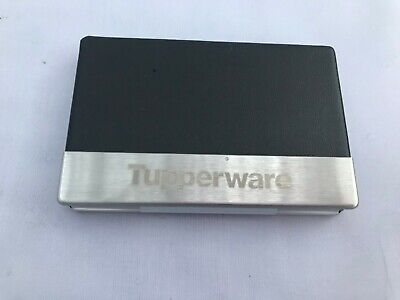 Tupperware Business Name Card Case Metal Box Keeper Holder Stainless Steel Case