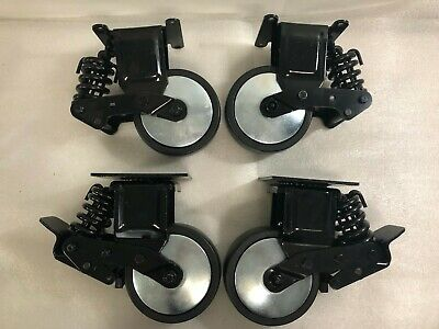 New Set Of 4 Heavy Duty 6 X 2 Spring Suspension Tool Box Casters 1000 Lbsx42
