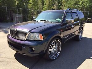 "Full custom Lincoln Navigator , flake paint ,26"" wheels"