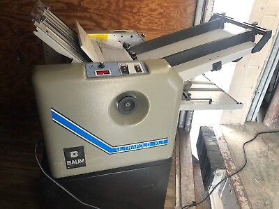 One Baum Ultrafold 714xlt 714xltb-2-p-1 Air Feed Paper Folder Pump And Cart