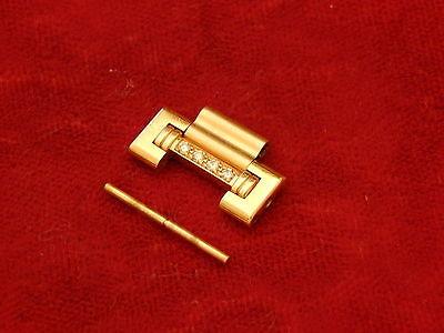 100% PIAGET DANCER POLO FULL 18K YELLOW GOLD DIAMOND 16MM BAND BRACELET LINK