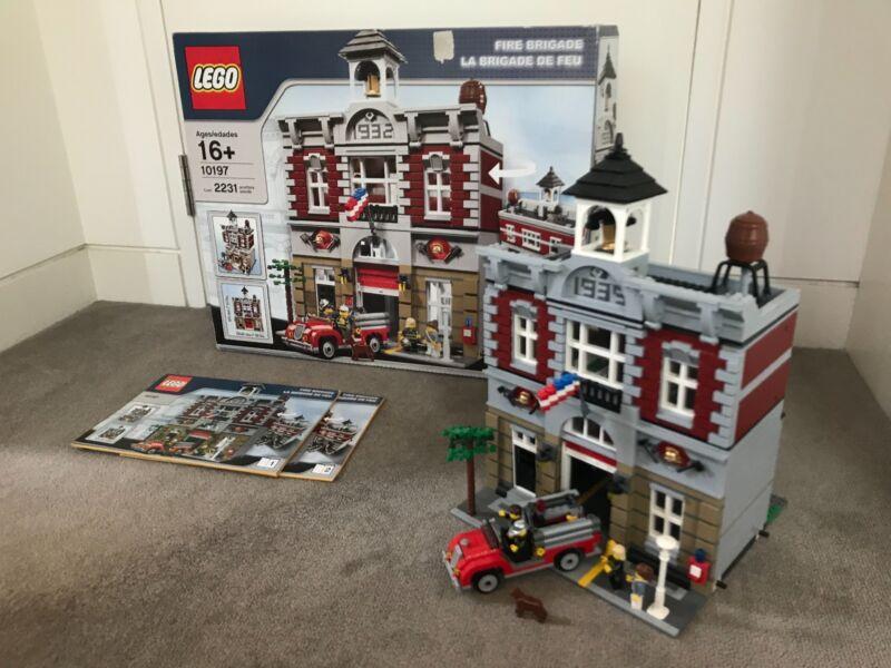 Lego Fire Brigade 10197 W Original Instructions And Box