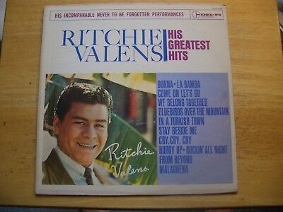 Ritchie Valens   His Greatest Hits   Del Fi 1225   1963   33 1 3  Lp  Record