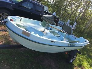 Pelican 12' bass boat and trailer