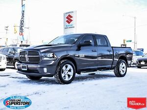 2014 Ram 1500 Sport Crew Cab 4x4 ~Nav ~Heated + Cooled Leather