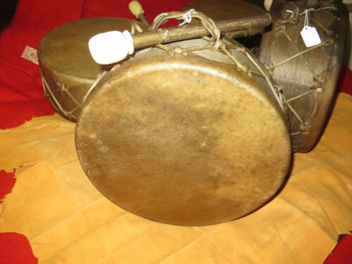 """Original People 14"""" Sweat Lodge and Drum Stick thick selected Buffalo Hide"""