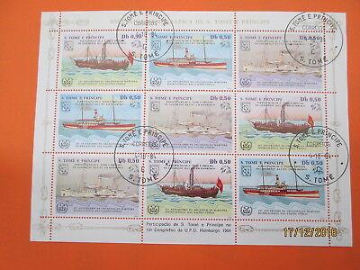 BOAT SHIP BATEAU BOOT SCHIF BARCO  (ALV081)  S TOME E PRINCIPE 1984 N