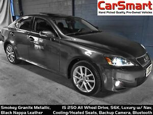 2011 Lexus IS 250 AWD, Navigation, Rr. Camera, Leather, Sunroof