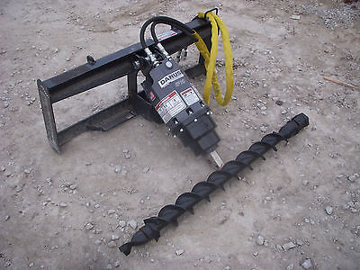 Bobcat Skid Steer Attachment - Danuser Ep 10 Hex Auger With 4 Bit - Ship 199