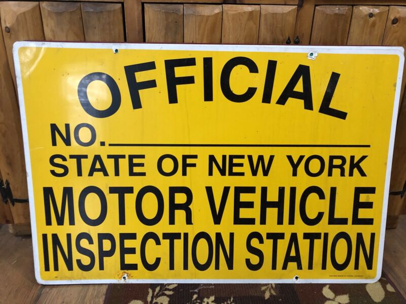 NYS REGISTERED MOTOR VEHICLE INSPECTION STATION 2 Sided Sign