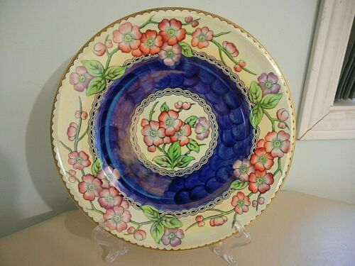 "MALING  "" MAY BLOOM ""  BEAUTIFUL DECORATIVE  CHARGER  RACK  PLATE  11 3/8 ""  EXC"
