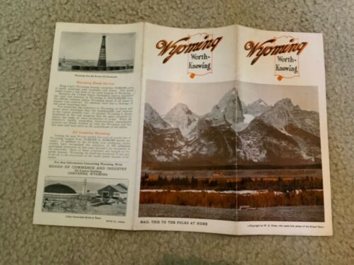 Original 1930 Wyoming Commerce & Industry Promo Brochure Wyoming Worth Knowing