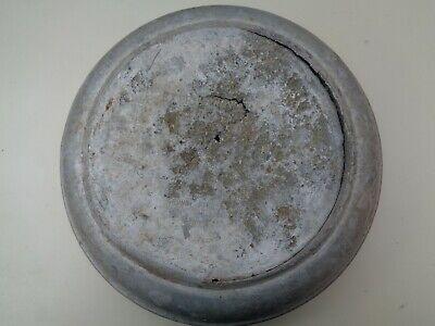 Aluminium 10 gallon Milk Churn LID circa 1961 DAMAGED L15