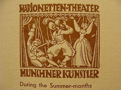 Vintage MARIONETTE Paper: MOLIERE AMPHITRYON paul branns marionettes 1930's