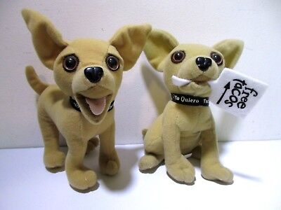Taco Bell Plush Stuffed Animal Mexican Dog Toy Chihuahua Lot 2 Sign Applause  for sale  Shipping to Canada