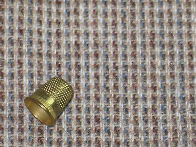 """Tan-Brown-Gray-Blue Vintage Wool Fabric~UNUSED~61""""x 41"""""""