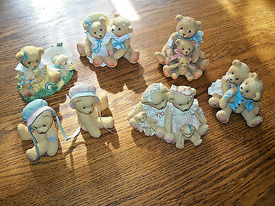 Lot of 6 Cherished Teddies Friendship Themed Friends Come in All Sizes & Shapes