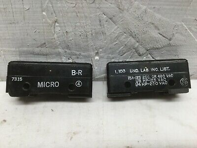 Micro Switch B-r Pin Plunger 15a 125 250 Or 480 Vac Lot Of 2