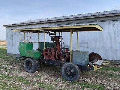 Steam Engine Born Bros Belleville Ill Ames Iron Works Boiler Tractor Hit Miss