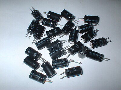 LOT 25 PCS 47UF 25V DC 85C  Radial Electrolytic CAPACITOR USA SELLER  BOX#35