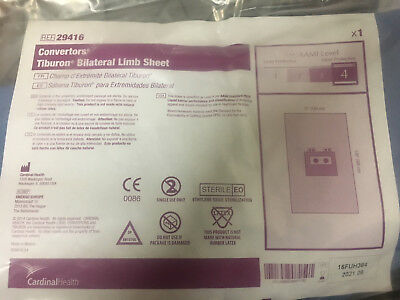 Case Of 12 Cardinal 29416 Health Converters Tiburon Bilateral Limb Drape Sheet