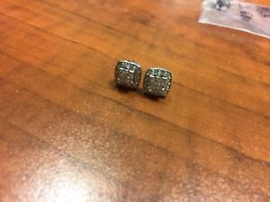 14k white gold diamond earrings $750 or Best Offer