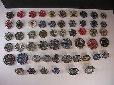 Lot of 55 Vintage Valve Water Faucet Knobs/Handles Industrial