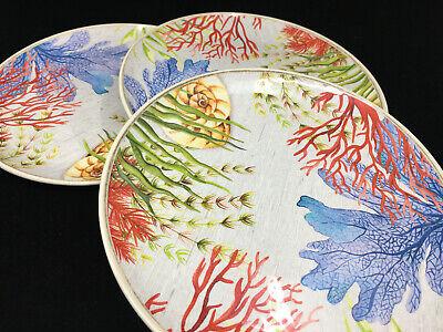 3 Dinner Plates Tropical Melamine Outdoor Better Homes Gardens Sea Plants