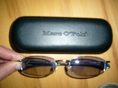 Marco Polo Sonnenbrille,Damen,neu/ungetragen,silber/blaue Gläser