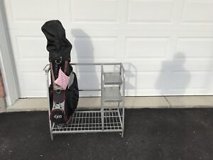 Golf organizer, fits 1 or 2 bags plus  accessories