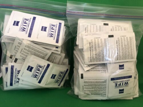 Zeiss Pre-Moistened Lens Cleaning Wipes For Optical Surfaces 100 Count Lot of 2