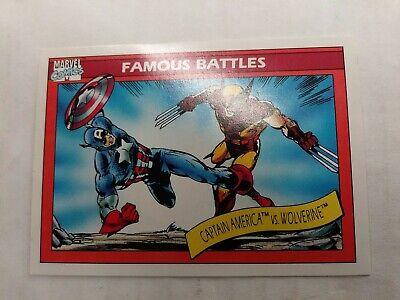 Details about  /Marvel Universe Famous Battles Card #115 Captain America vs Wolverine 1990 MCU