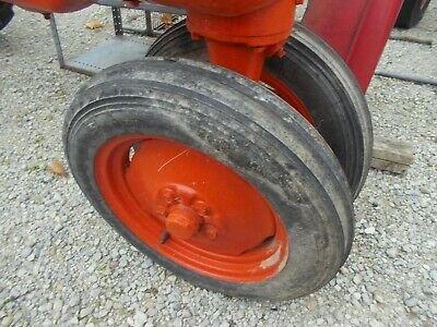 Allis Chalmers B C Tractor Ac Rims 4.00 X 15 Firestone Gide Grip Front Tires K