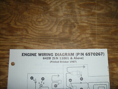 Bobcat 642b Skid Steer Engine Electrical Wiring Diagram Schematic Manual 11001up