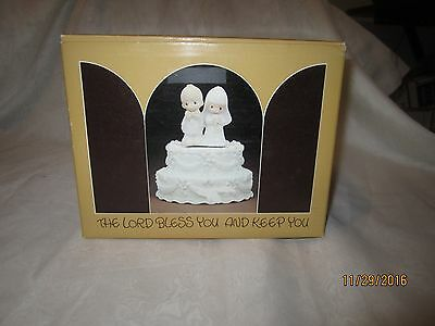 Enesco Precious Moments The Lord Bless You And Keep You Wedding Cake Music Box