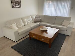 White Leather Modular Couch
