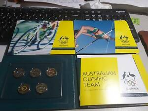 SET OF 5 OLYMPIC COLOURED $2 COIN FOLDERS. 25 UNC COINS. Kununurra East Kimberley Area Preview