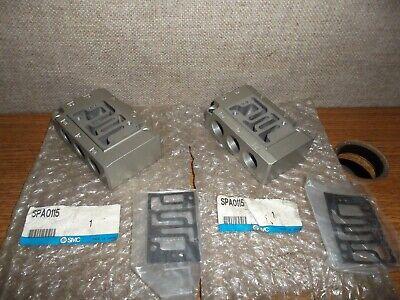 Lot Of 2 Smc Spa0115 Valve Subplate Manifold Body